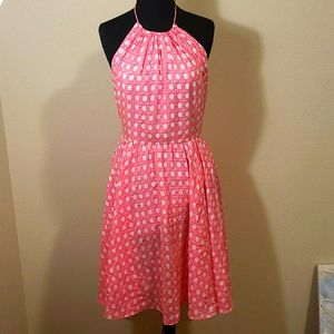 Vineyard Vines Pink and White Size 4 Dress